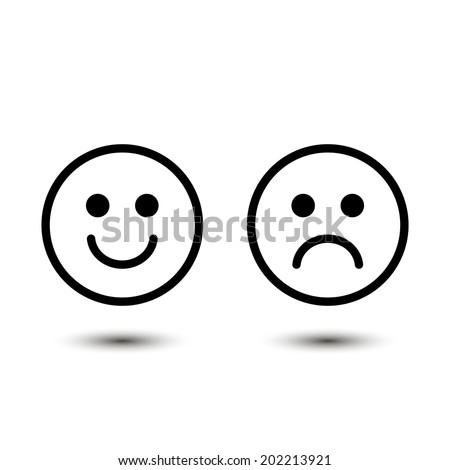 smile, vector icons