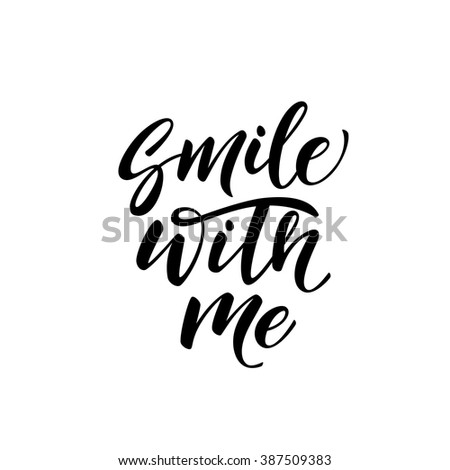 smile with me card. hand drawn...