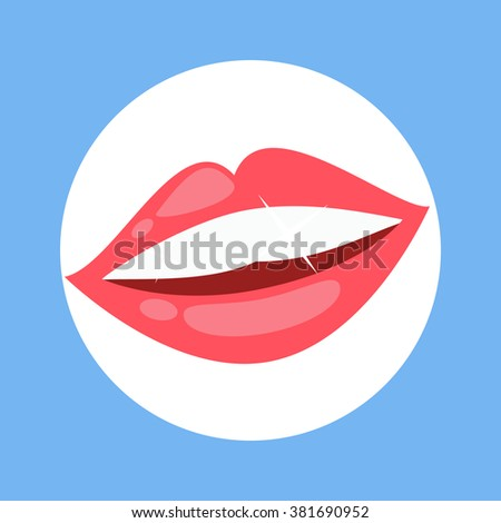 smile with white tooth design