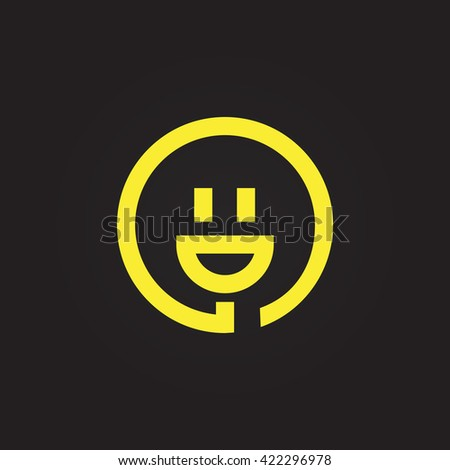 smiley and plug vector icon