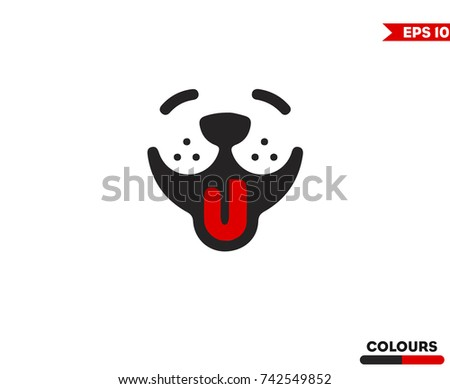 Shutterstock Smiley Dog Face. Digital Drawing
