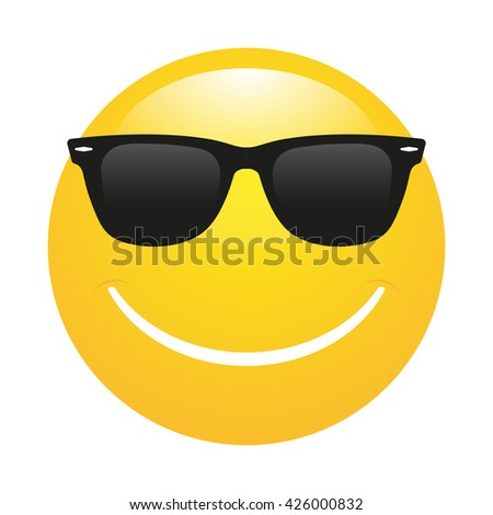 smiley emoticon  in sunglasses