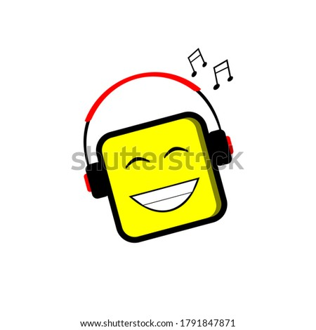 smiley emoticons listening to