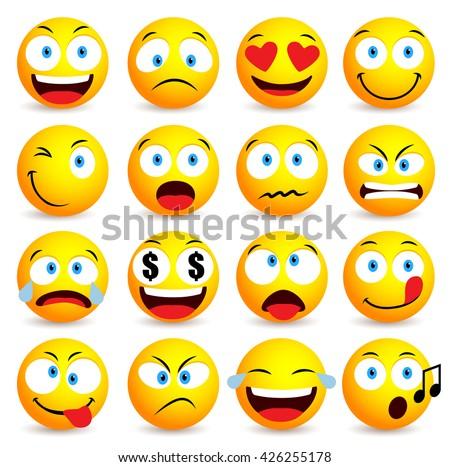 Face smileys and emojis Vector - Download Free Vector Art
