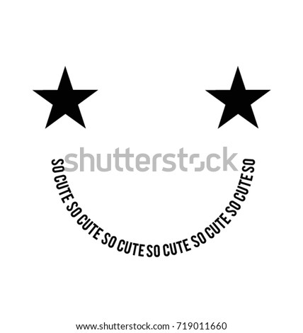 smiley face created with stars