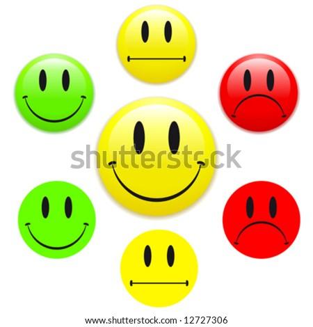 happy face sad face. stock vector : Smiley face