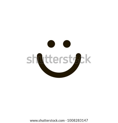 smiley face icon sign design