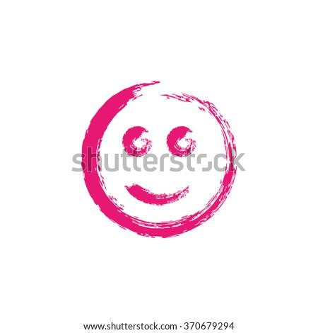 smiley face paintbrush grunge