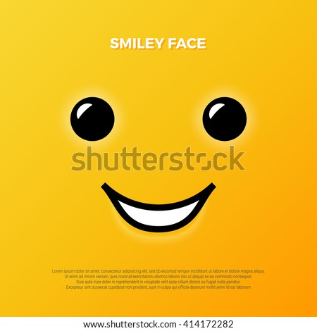 Smiley face. Yellow smile poster. World smile day. Vector illustration. Smiley vector. Smiley icon. Smiley background. Smiley wallpaper. Emoticon background. Emoticon icon. Emoticon wallpaper. Smile
