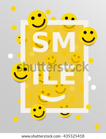 smiley faces design elements