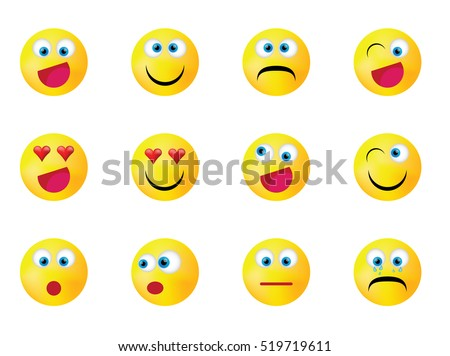 smiley faces expressing