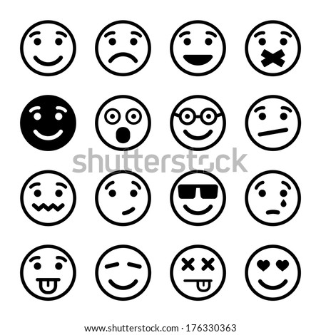 smiley faces ns set