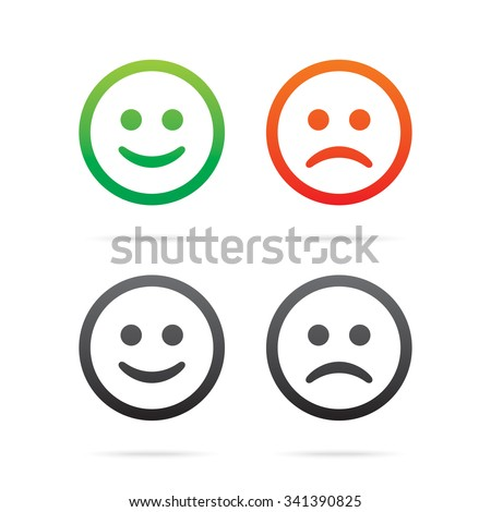smiley icons set of vector