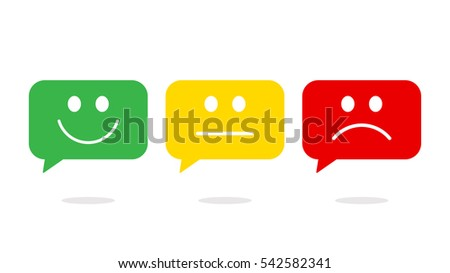 Smiley in speech bubble icon