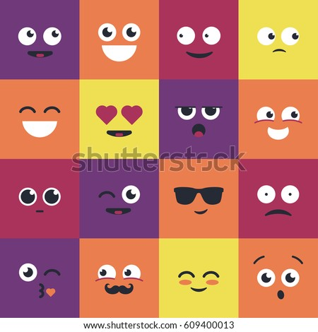 smiley   modern vector set of