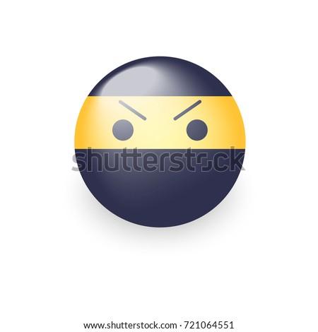 smiley ninja with an angry