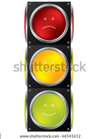 Smiley traffic light design