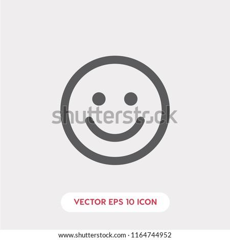 smiley vector icon  happy