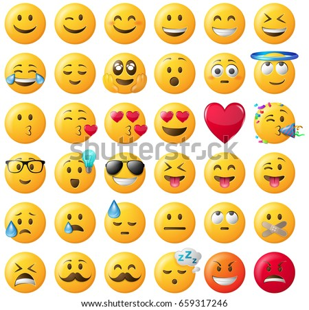 stock-vector-smileys-emoticons-vector-set