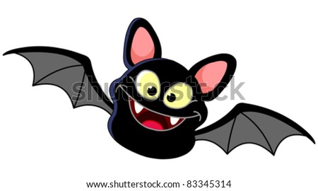 Smiling bat flying