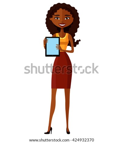 smiling business young girl