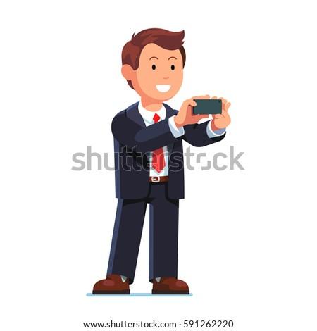 smiling businessman in black