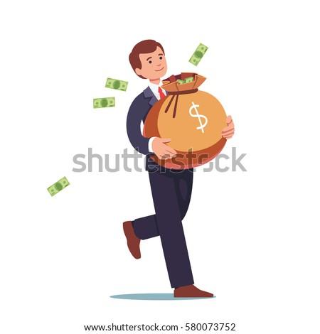 smiling businessman walking