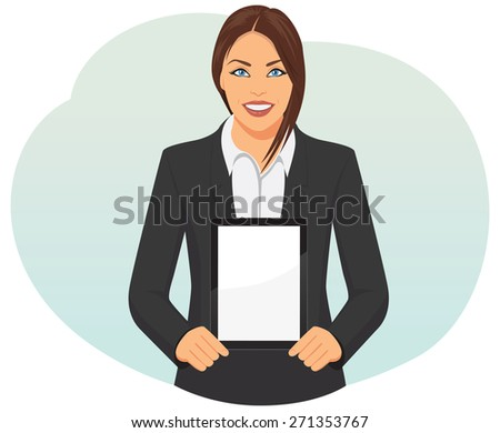 smiling businesswoman in suit