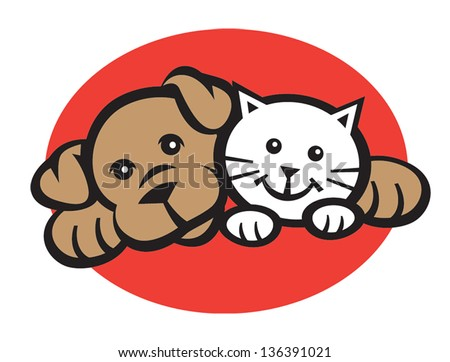 smiling cat and dog