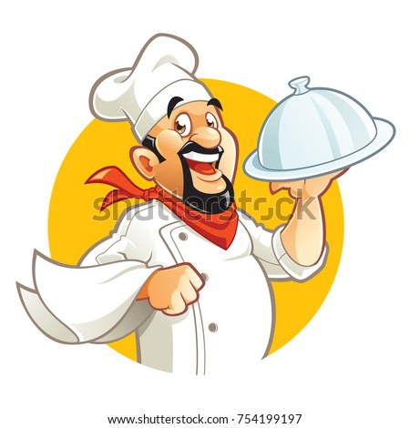 smiling chef cartoon character