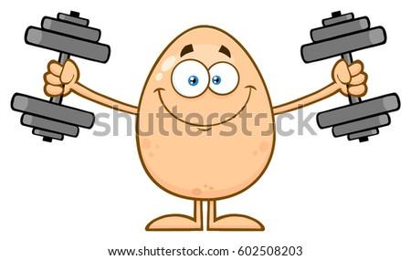 smiling egg cartoon mascot