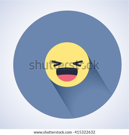 smiling emoticon with open
