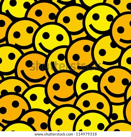 Smiling emoticons Seamless pattern