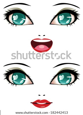smiling female face with