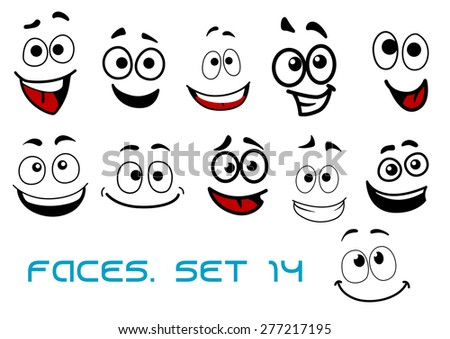 Royalty free vector illustration of a set smiling 360392369 stock photo - Ogen grappig ...