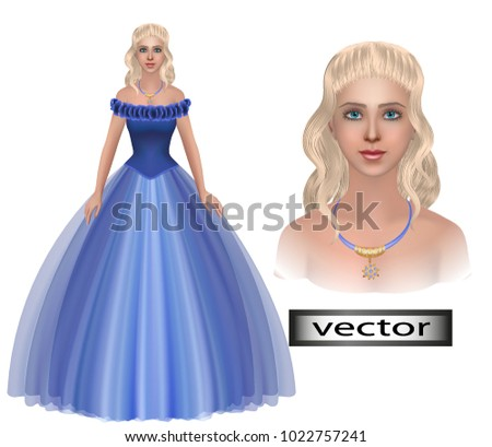smiling girl in a party dress