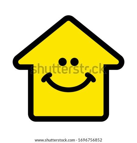 smiling home icon  house icon