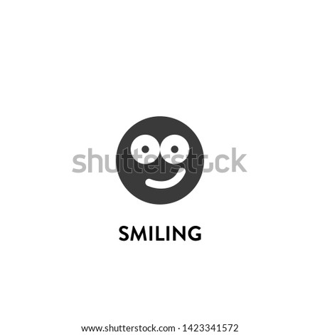 smiling icon vector. smiling vector graphic illustration