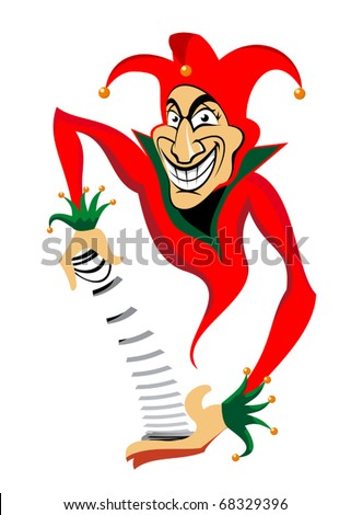 Smiling joker man for casino or poker design. Jpeg version also available in gallery