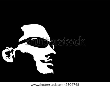 Smiling man - vector