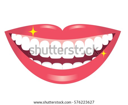 smiling mouth with white teeth
