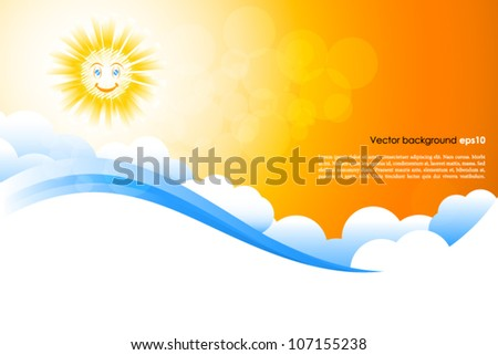 Smiling sun background