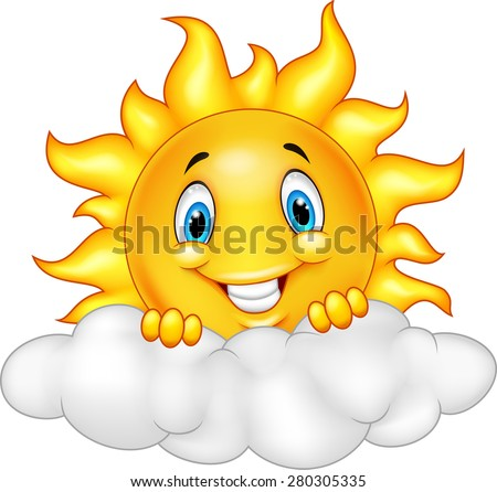 smiling sun cartoon mascot