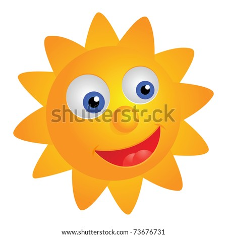 Smiling sun, vector illustration EPS version 8