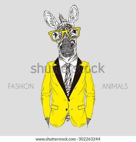 smily zebra boy dressed up in