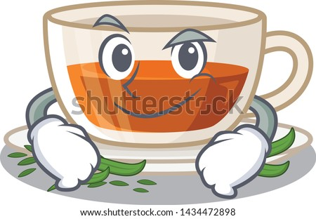 smirking darjeeling tea in the
