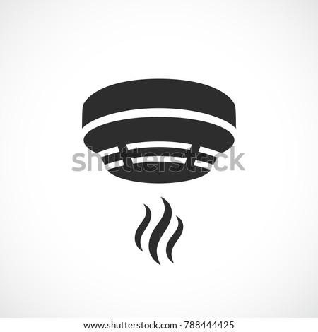Smoke alarm system vector symbol isolated on white background
