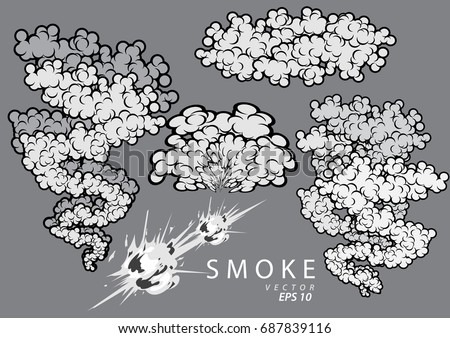 Vector Clouds - Smoke - Download Free Vector Art, Stock Graphics ...