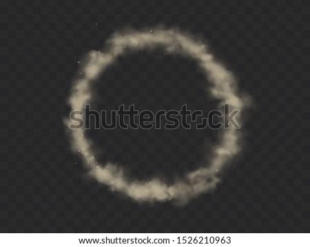 smoke circle  round smog cloud