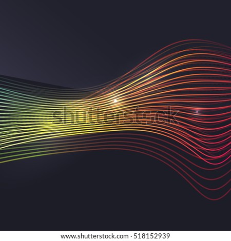 smoke colorful vector wave on